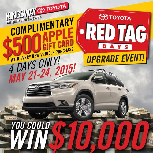Toyota Event: May 21-24 Is Our Upgrade Event At Kingsway Toyota! Check