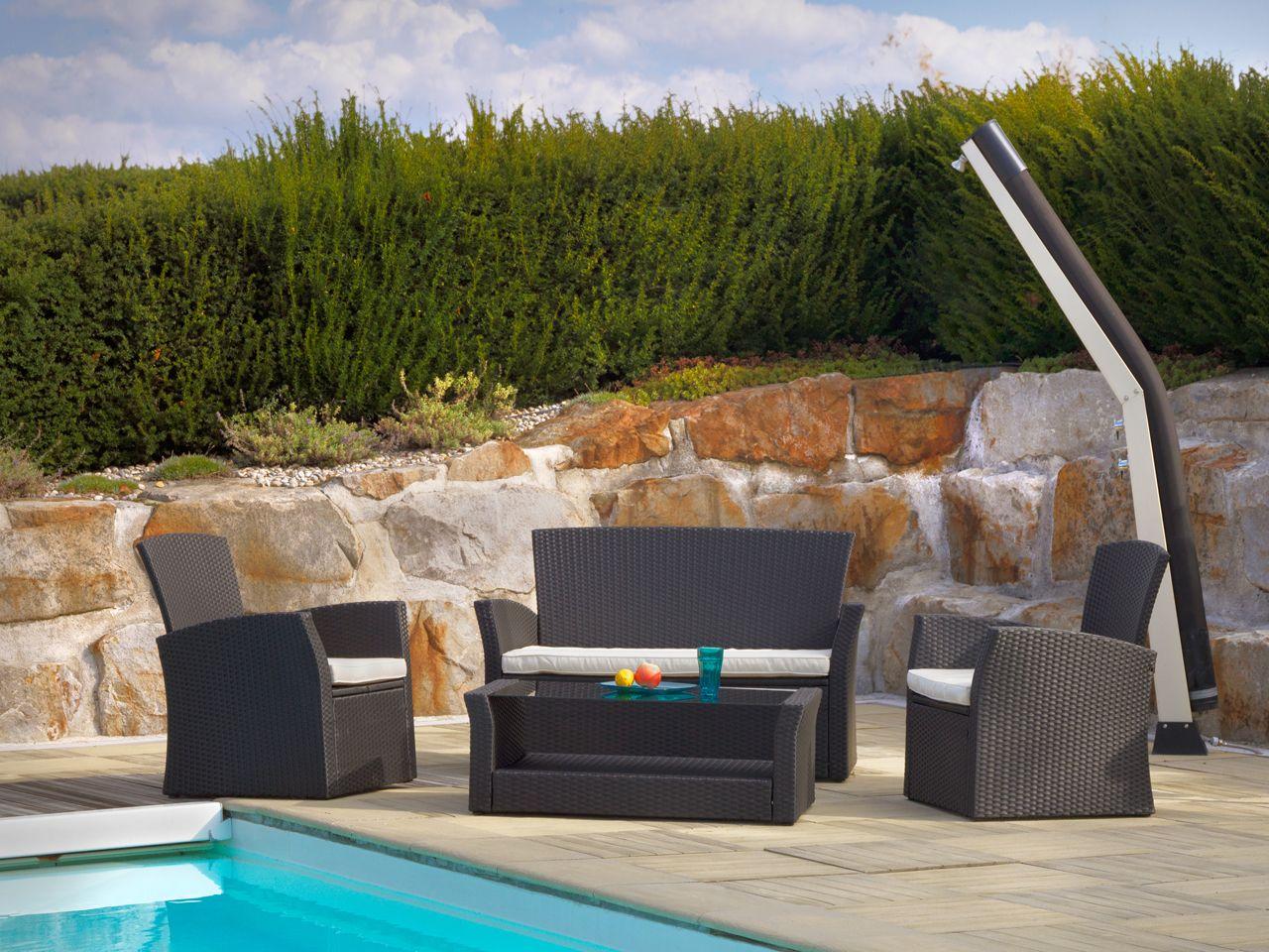 Salon New Orl An 1 Canap 2 Fauteuils 1 Table Profitez De Ce  # Table De Jardin Livraison Rapide