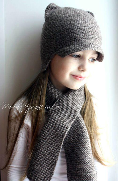 как вязать шапочки с ушками крючком Crochet Modnoe Vyazanie
