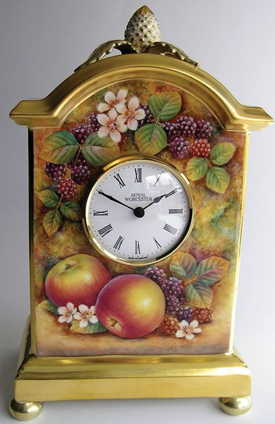 Royal Worcester Pineapple Clock Something Different
