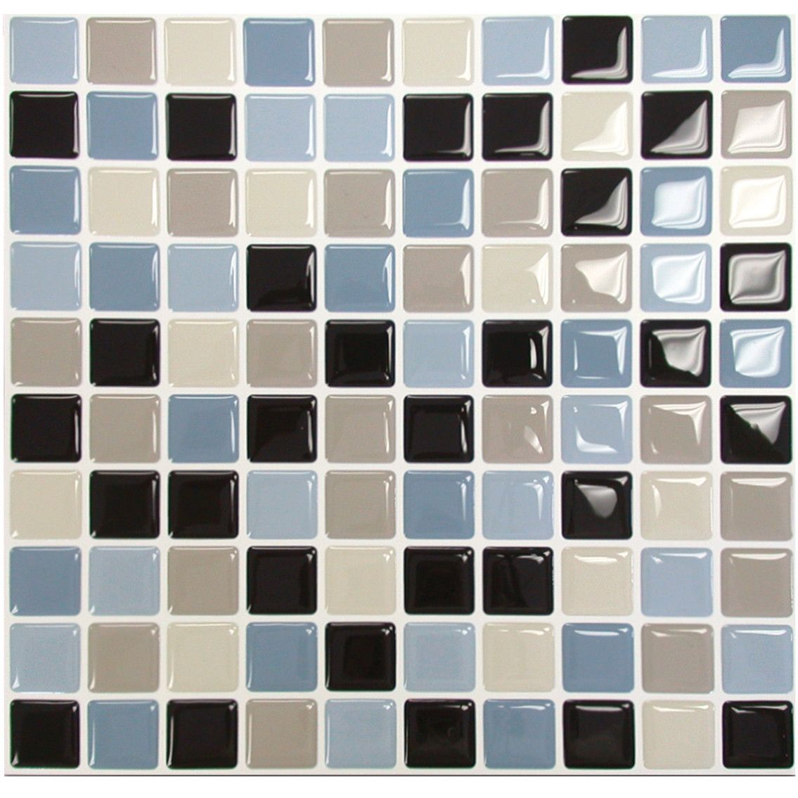 "- Smart Tiles Mosaik Maya 9.85"" X 9.85"" Peel & Stick"
