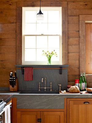 The Soapstone Countertop With Integrated Sinks Forms One Long Clean Line De Giulio Treats His Original Bee S Wax Furniture Polish