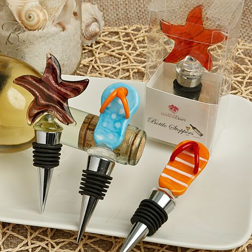 Murano Glass Collection starfish design wine bottle stoppers