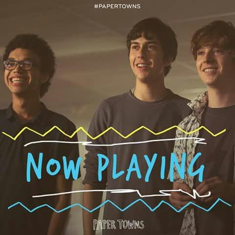 Get on the road with these guys. #PaperTownsMovie is playing NOW.