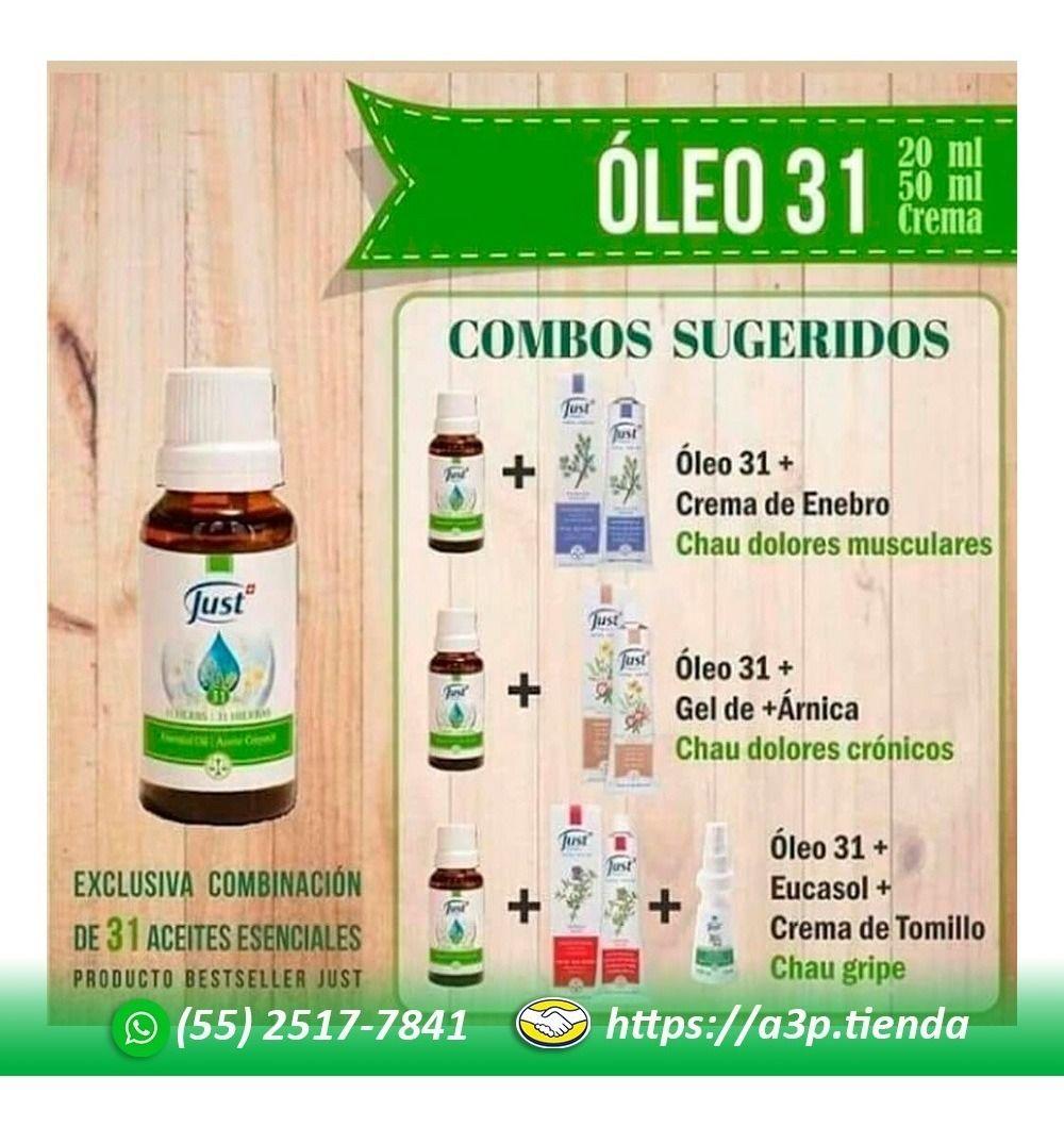 Aceite Esencial Oleo 31 Swiss Just 20ml Original Y Envío 560 00 En Mercado Libre Productos Para La Salud Cuidados Para El Cuerpo Just Productos