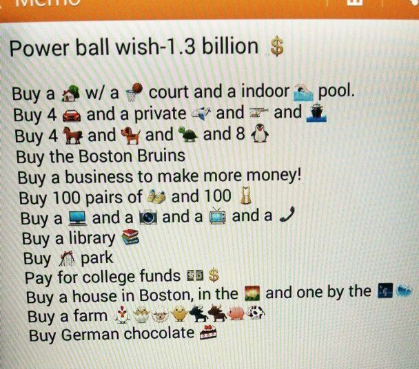 My powerball wishes what are yours??