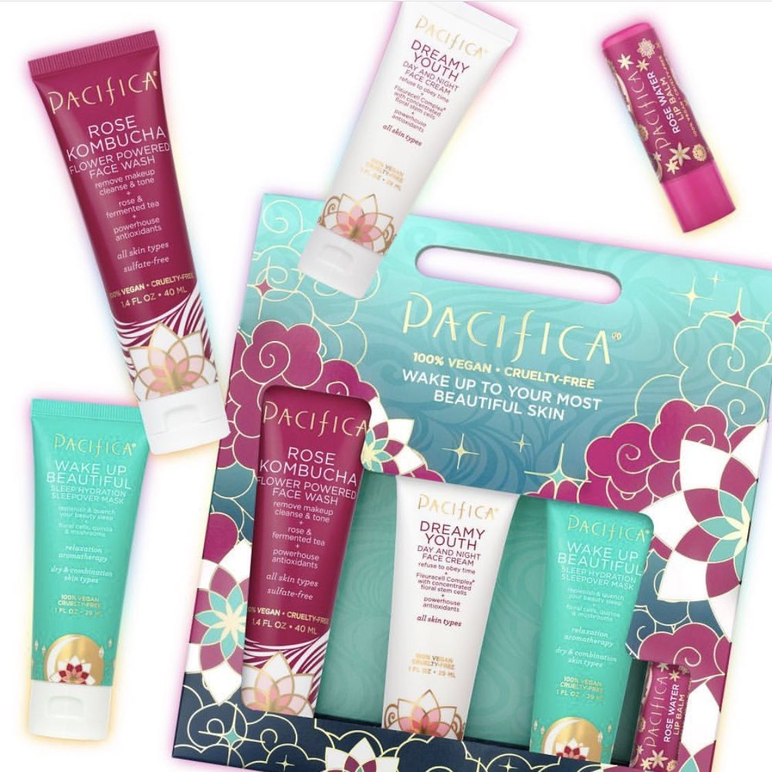 Don T Let Your Friend S Skin Be Thirsty Girl Add A Little Flower Power To Their Holiday And Give The Gift Of R Skin Care Collection The Balm Sun Damaged Skin