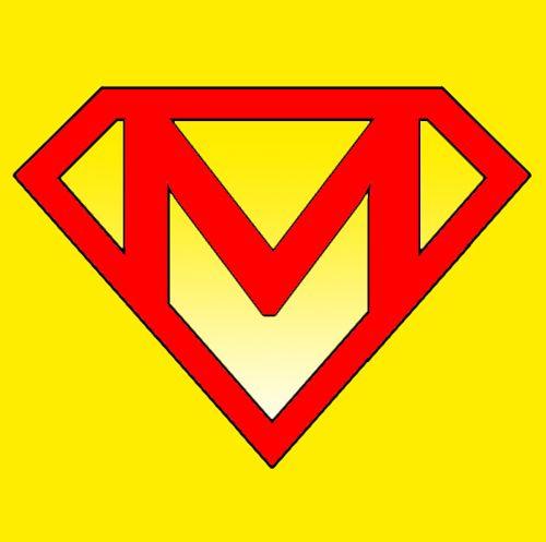 letter m superman logo with letter m m pinterest superman logo with different letters download superman logo using different letters