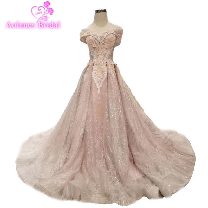 Blush Pink Simple Prom Dress Lace Appliques Off The Shoulder Amazing Beauty Prom  Gown Special Formal Maxi Gowns Vestido Noiva 20fa70039934