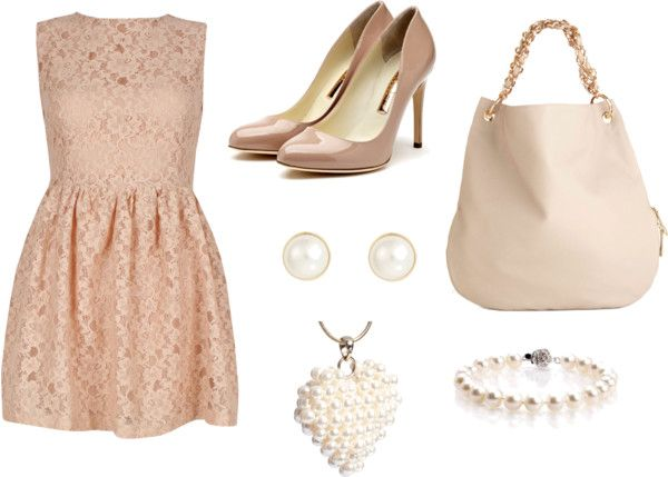 """""""Lace and pearls"""" by ang-8 on Polyvore"""