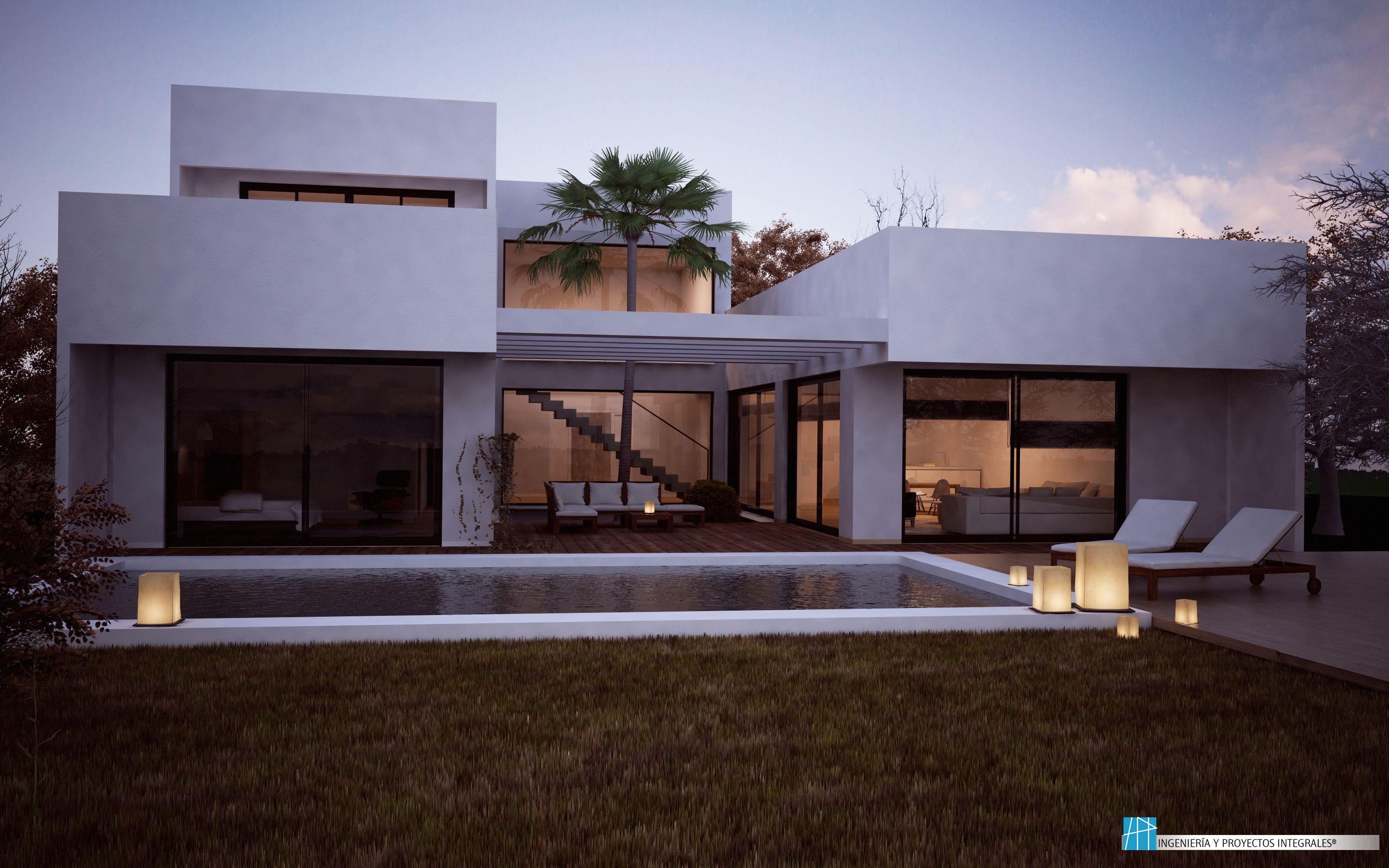 Viviendas unifamiliares casa patio arquitectura - Fachadas viviendas unifamiliares ...
