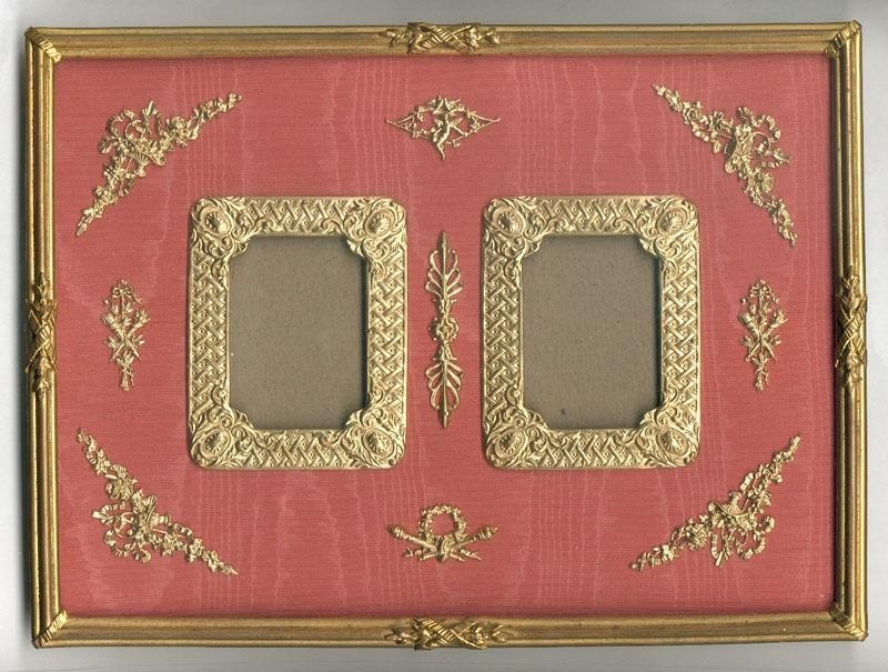 HUGE Antique French Empire (Nap III) Dore Bronze Double Frame ...
