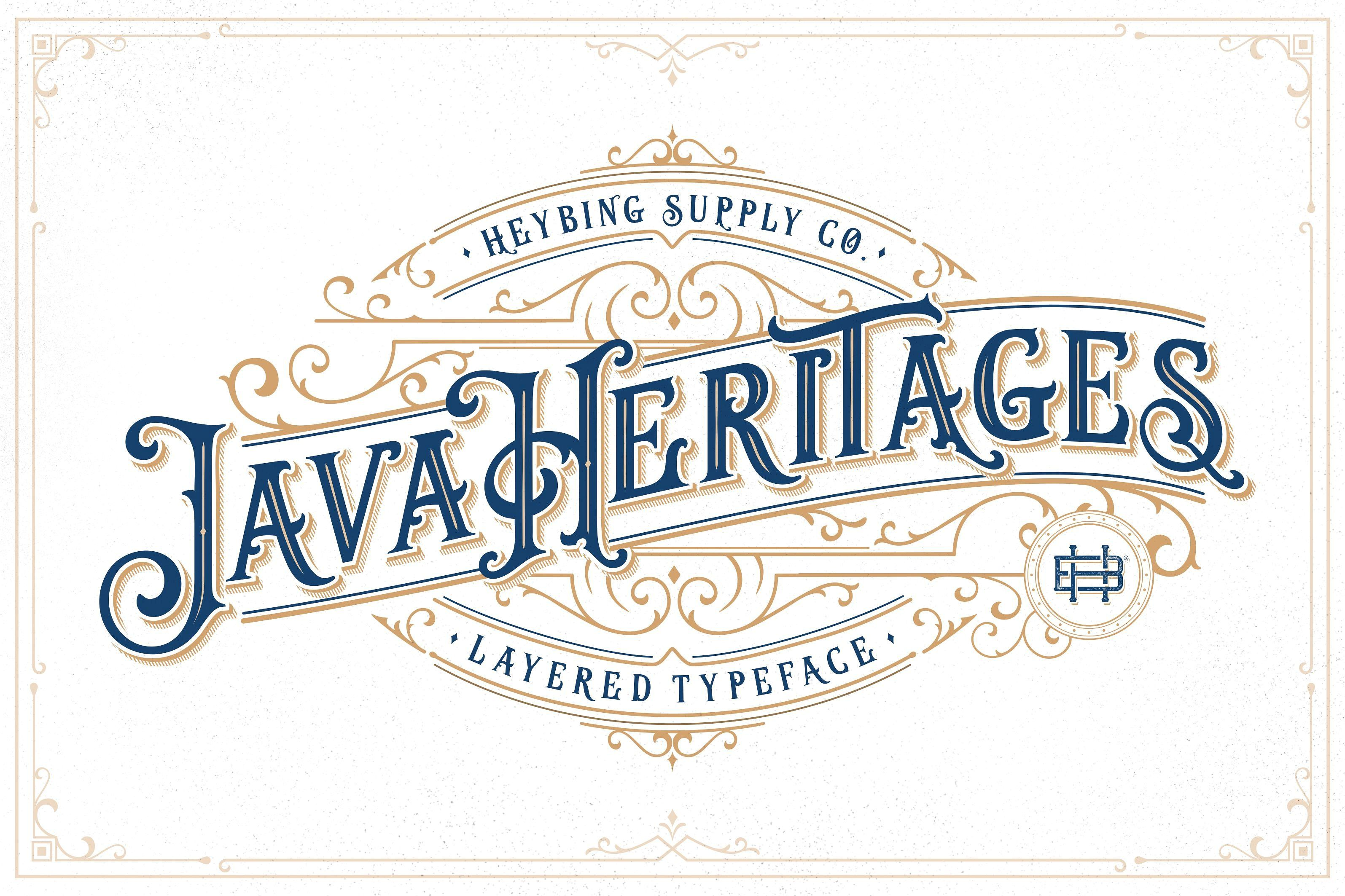 Java Heritages Extras Update Lettering Vintage Fonts Logo Fonts