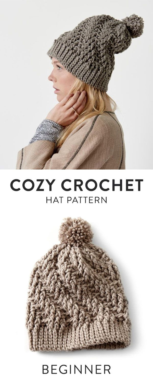 Stepping Texture Hat Crochet Kit | Gorros, Tejido y Luces
