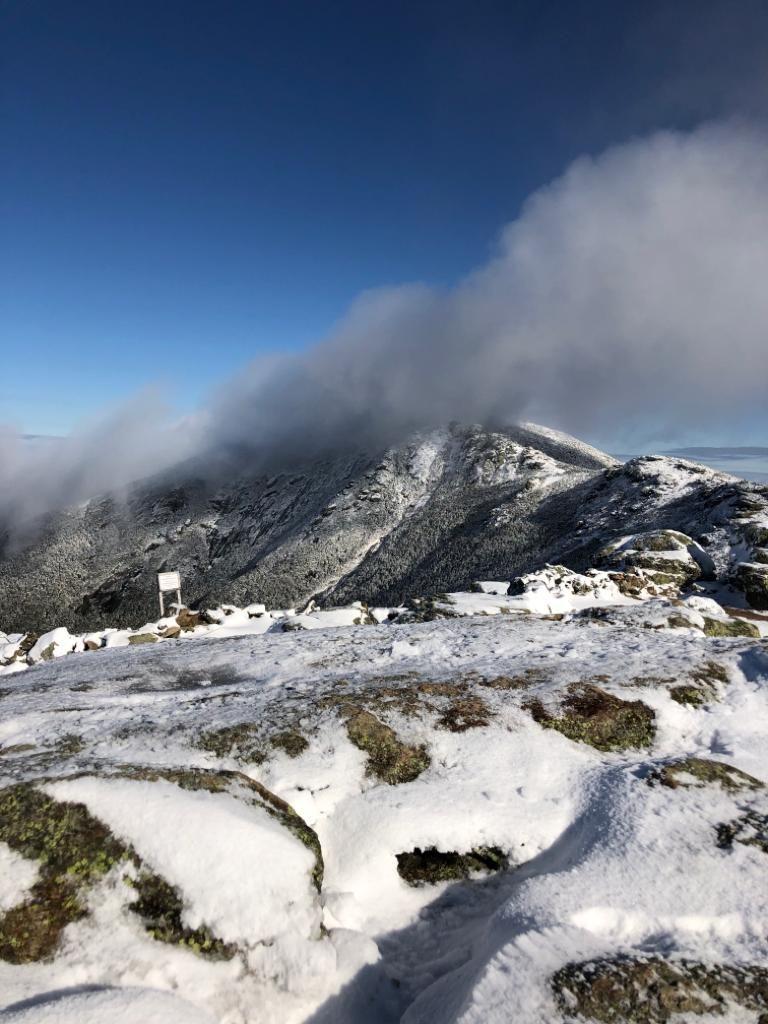 Lafayette Ridge traverse yesterday. White mountains NH ...
