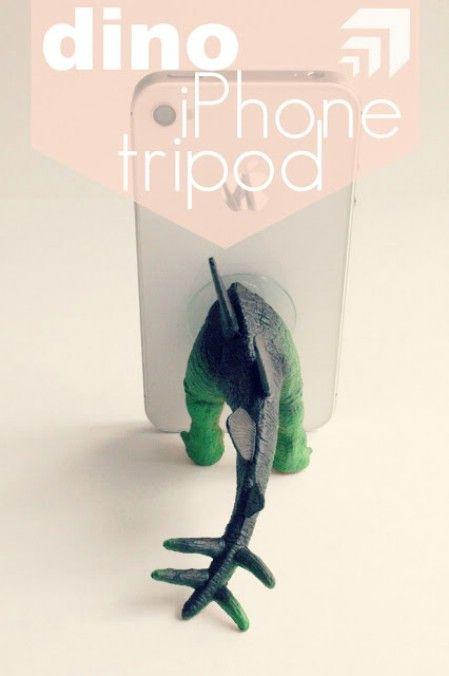 Adorable Dinosaur iPhone Tripod