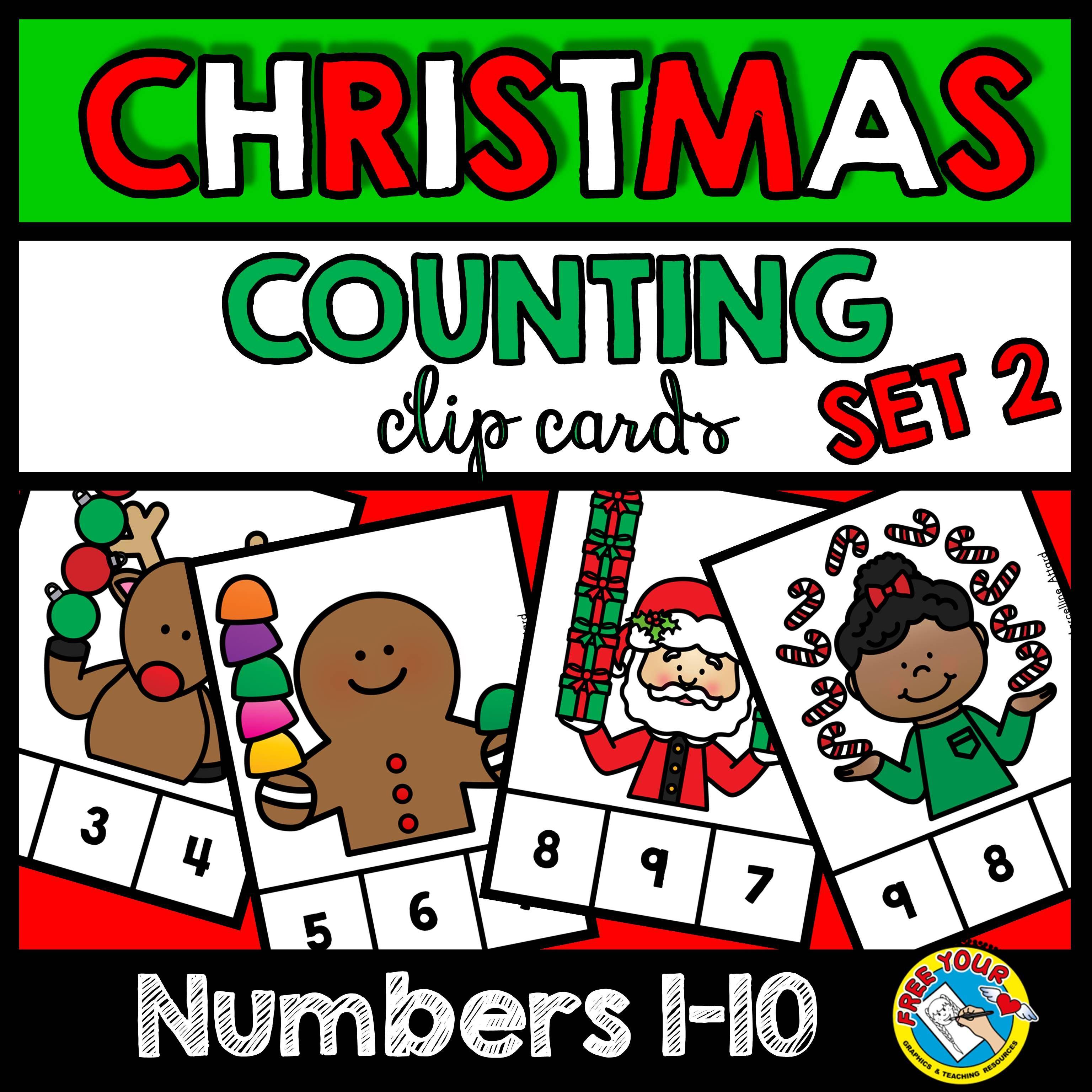 Christmas Math Centers Kindergarten December Activity