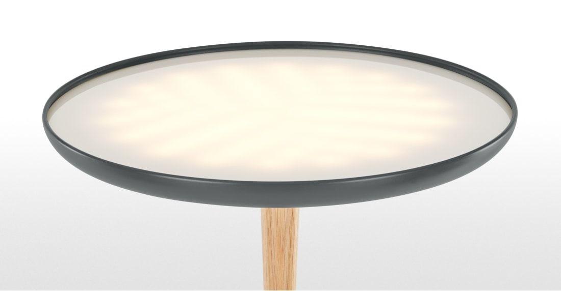 Tina led staande lamp houtskoolgrijs en hout lighting