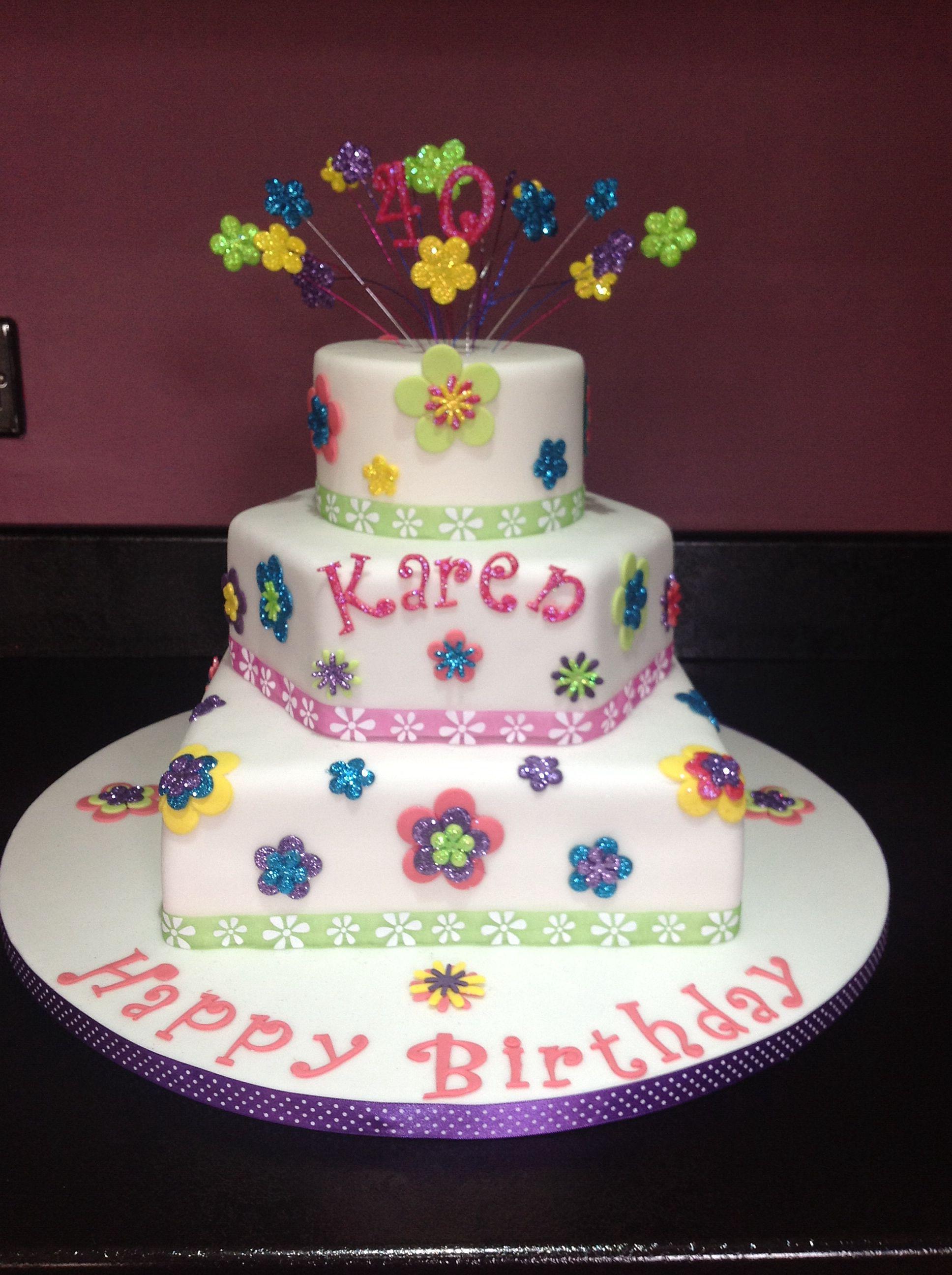 40th birthday cake | 40th birthday cakes, Cake, Cake ...