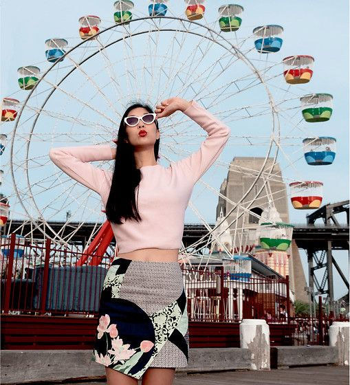 Get this look: http://lb.nu/look/8182811  More looks by Cissy Zhang: http://lb.nu/girlinthebunnyears  Items in this look:  Marcs Rose Sweater, Marcs Oriental Skirt   #chic #retro #vintage