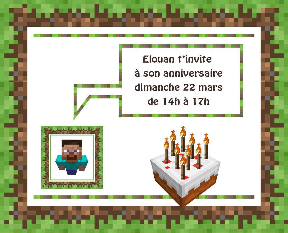 Top Anniversaire Minecraft | Invitation anniversaire, Anniversaires et  FH48