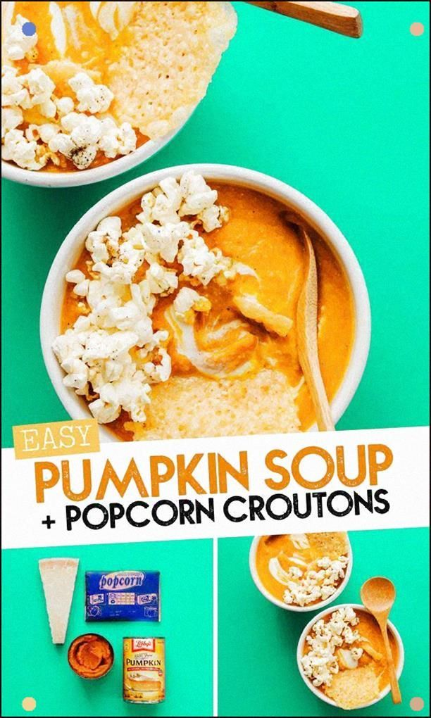 This Easy Pumpkin Soup Recipe Is Topped With Parmesan Cheese Crisps And Lightly ...