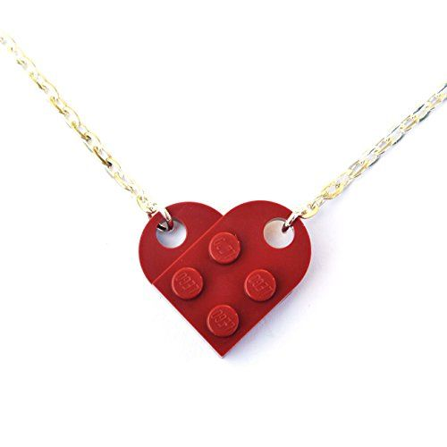 LEGO® Herz Halskette (dunkelrot) Hochzeit, Freundin, Valentinstag - http://schmuckhaus.online/sjp-cufflinks/lego-herz-halskette-dunkelrot-hochzeit-freundin