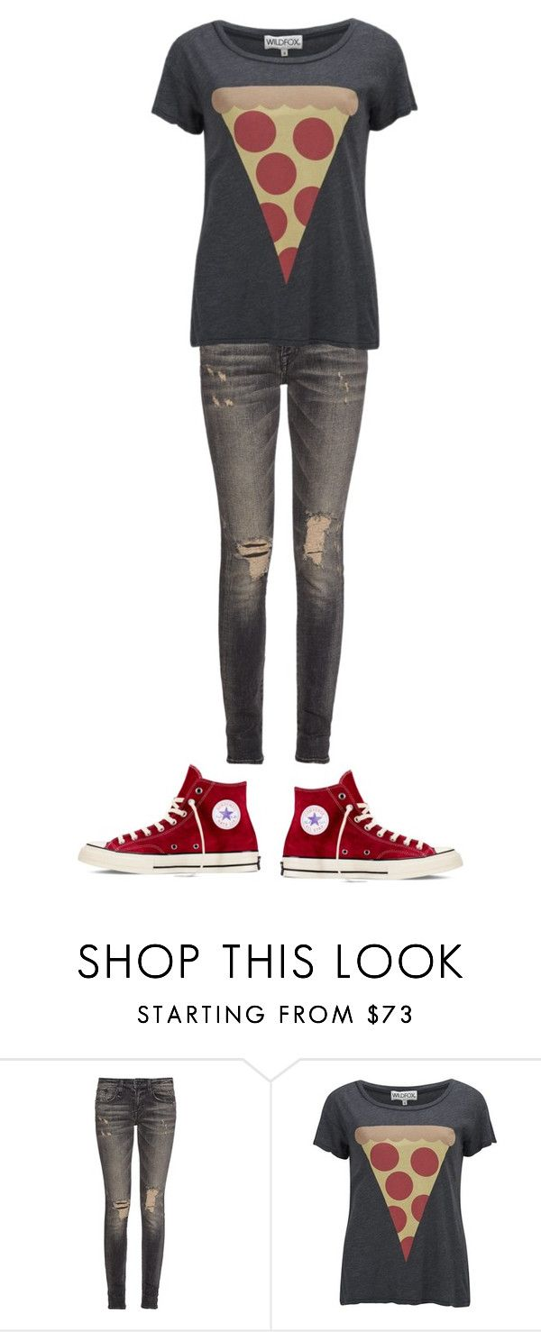 """""""Untitled #191"""" by pigsrock868 ❤ liked on Polyvore featuring R13, Wildfox and Converse"""