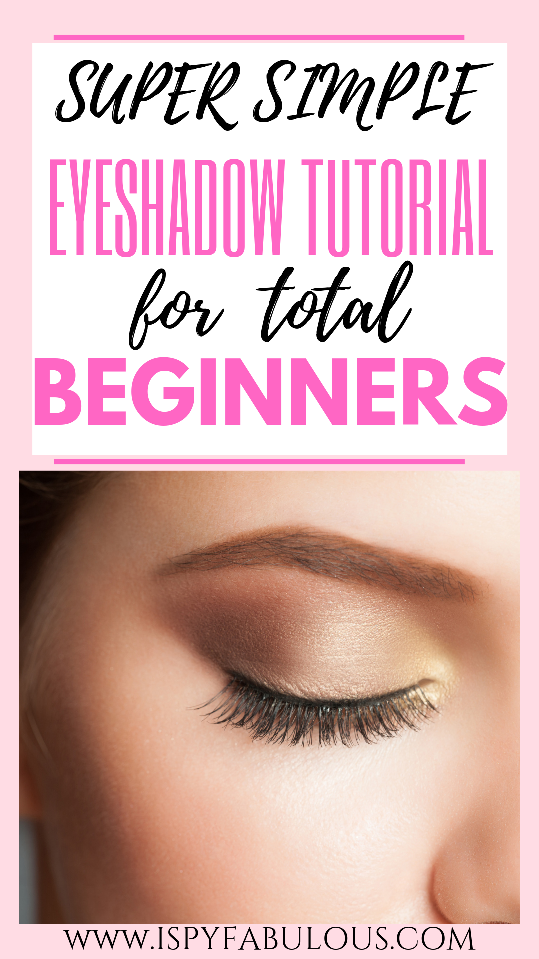 Beauty Class How To Apply Eye Makeup for Beginners