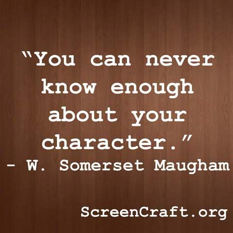 You can never know enough about your character. #screenwriting   Find more writing inspiration at ScreenCraft.org!