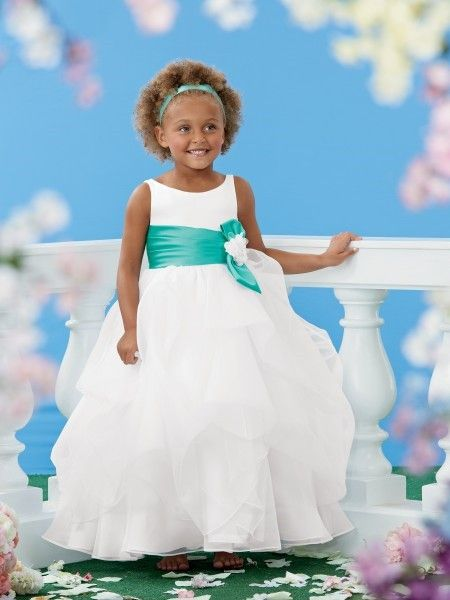 Mint and silver colored bridesmaid dresses white organza size 3 white mermaid sweet beginnings tufted flower girls dress floor length flower girls dress has tufted skirt with sleeveless organza bodice with mightylinksfo
