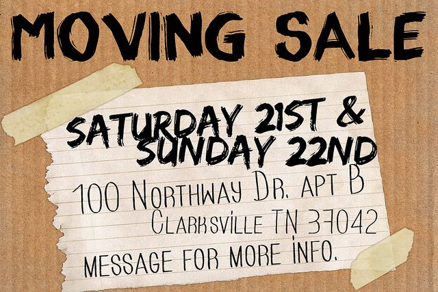 moving sale poster template - Google Search