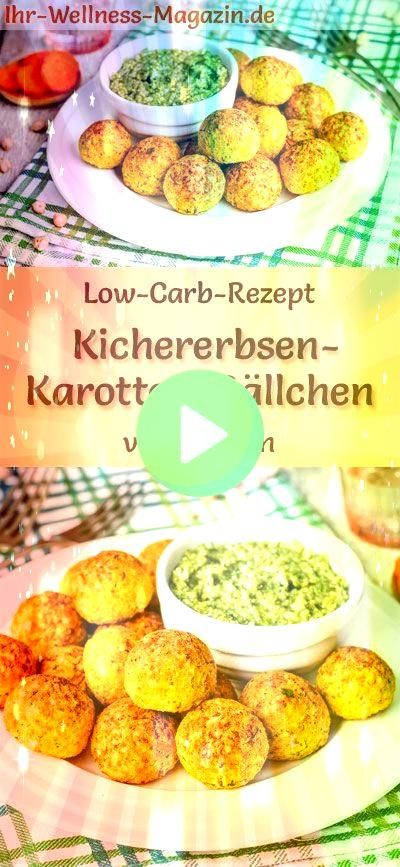 Carb Chickpea  Carrot Balls mit Pesto  Vegetarisches Hauptgericht Low Carb Chickpea  Carrot Balls mit Pesto  Vegetarisches Hauptgericht  Low Carb Chickpea  Carrot Balls m...