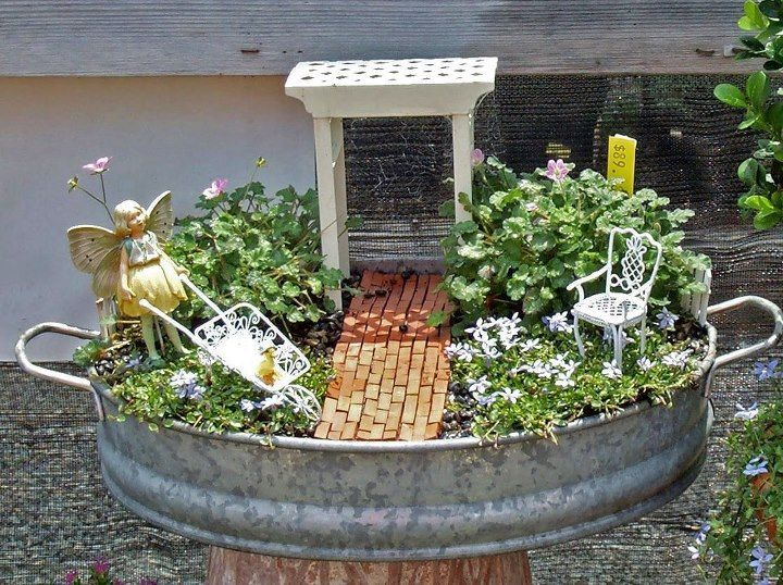 Recycle Reuse Renew Mother Earth Projects: Do You Know How To Make A Fairy  Garden