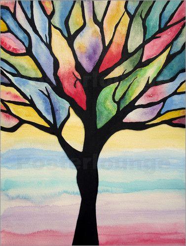 Siegfried2838 Bunter Baum Abstrakt Wandbild Abstrakt Und