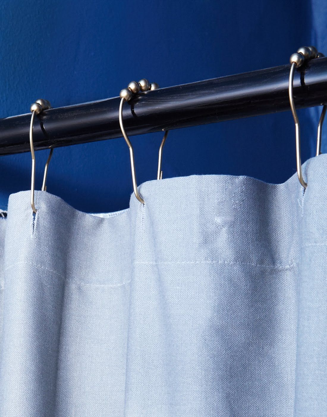 Paint Metal Curtain Rods Black And Pair With Metallic Shower