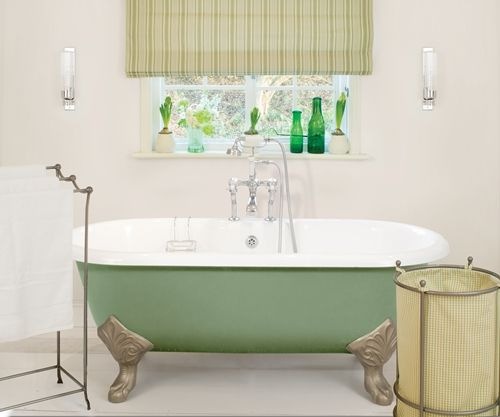 Roll Top Cast Iron Bath From Aston Matthews. Supplied With A Primed  Exterior So You