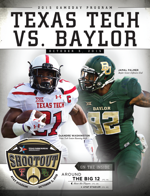 The 2015 Texas Tech vs. baylorathletics Game Day Program