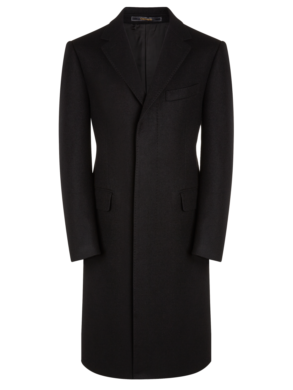 59bc087cc Black Fly-Fronted Overcoat - Coats - Menswear | UK | Black overcoat ...