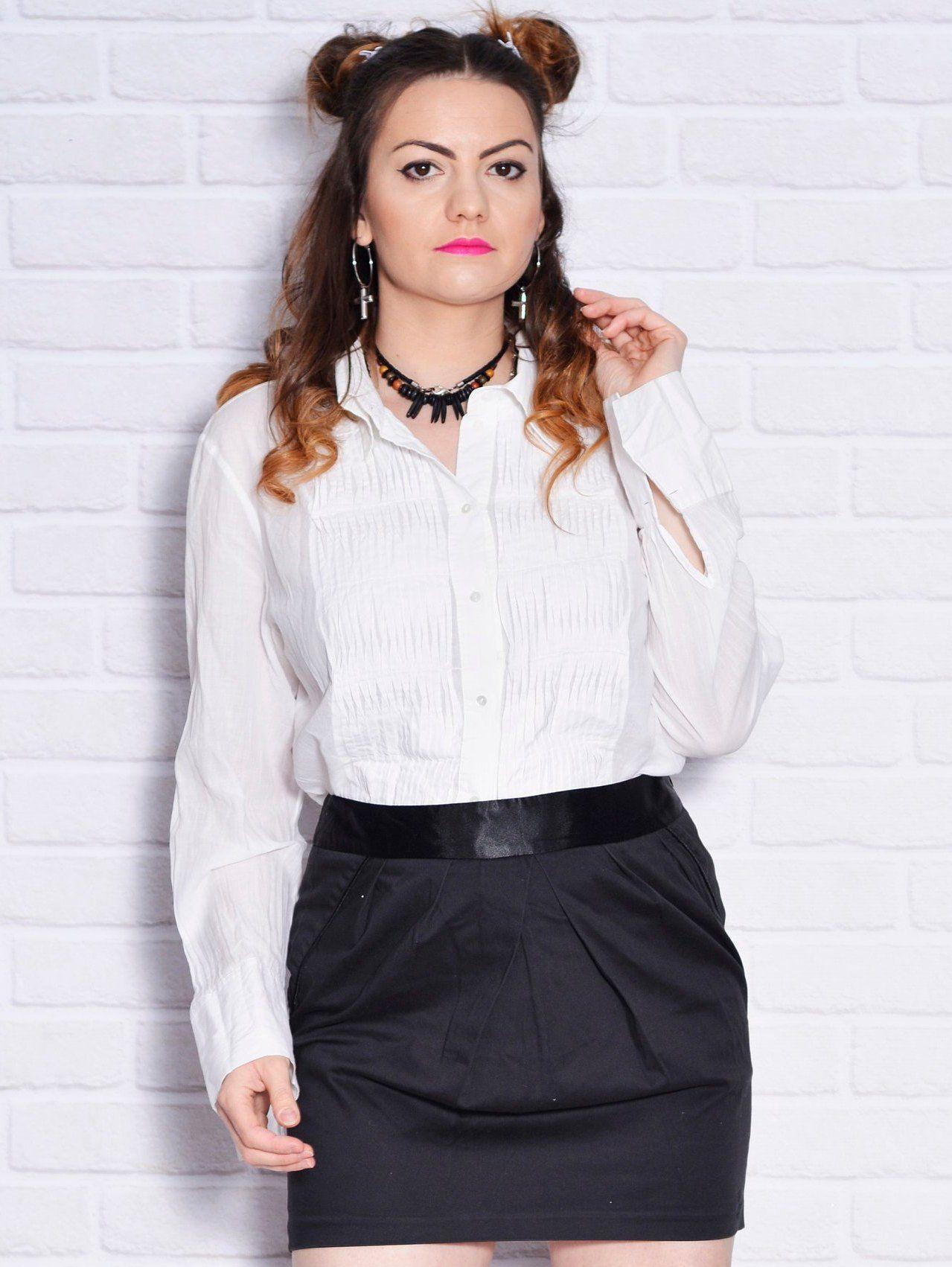 Betere White Tuxedo Shirt 90s Semi Sheer Blouse Cotton Long Sleeve | Etsy QH-34
