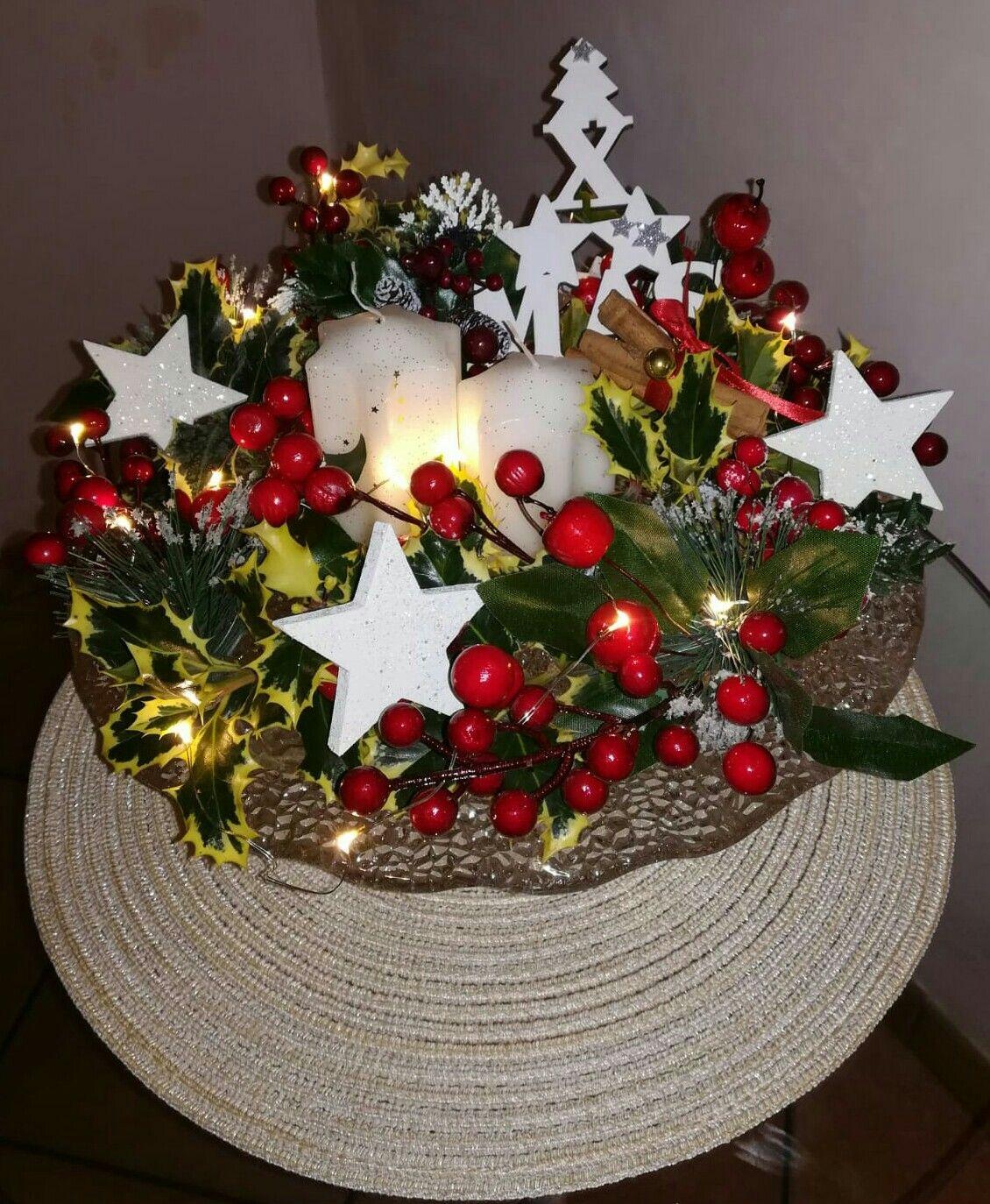 Creare Composizioni Per Natale centro tavola natalizio🌲 composizione con rami di pino