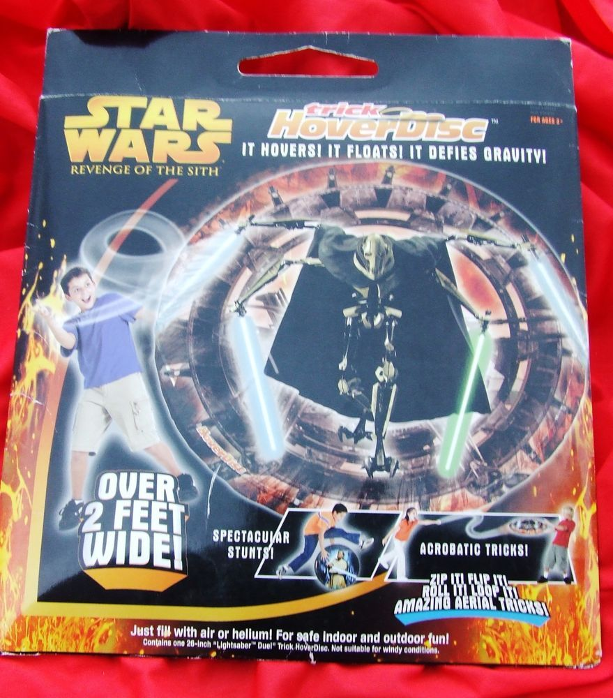 STAR WARS GENERAL GRIEVOUS HOVER DISC 2 FT WIDE NIP  Rare