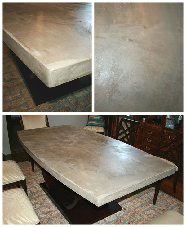 Diy Concrete Table Top Chic And Durable Concreting Over A Wood