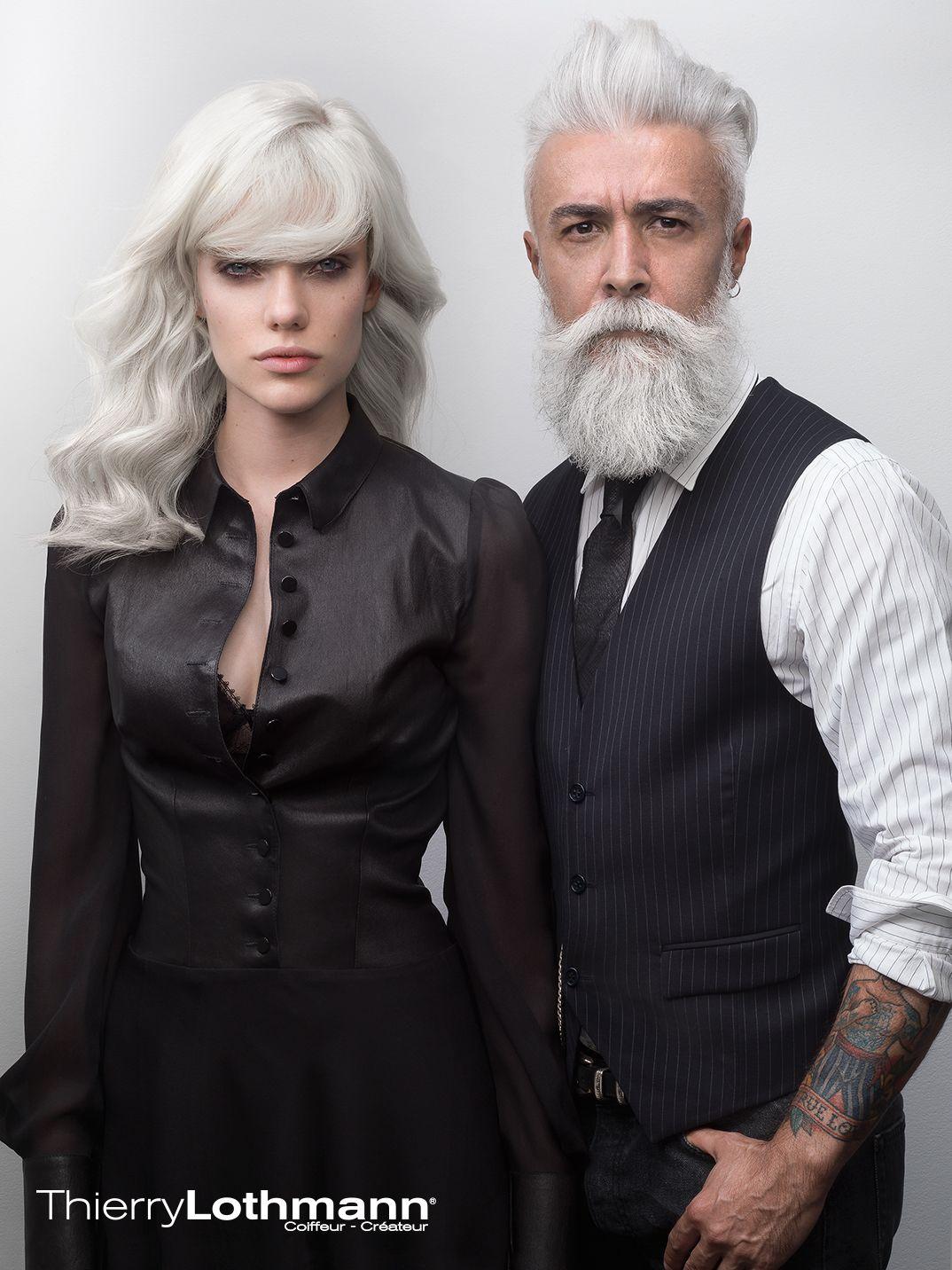 Thierry Lothmann Styles De Barbe Cheveux Blancs Barbes Grises