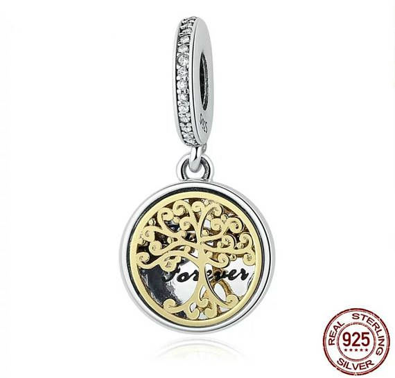 dd29f0afe Authentic Sterling Silver charm Tree of Life family forever locket Charms  Fits European & Pandora Ch