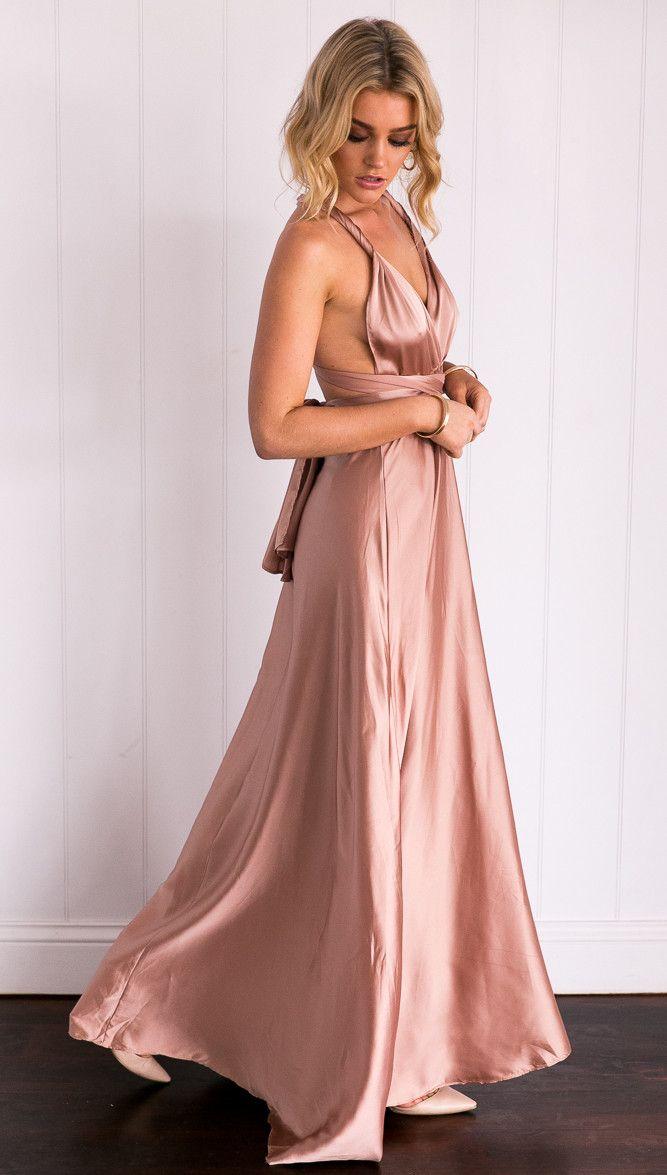 62782a5128fa4 Celestial Dress (Mocha) | clothing company shots | Dresses, Formal ...