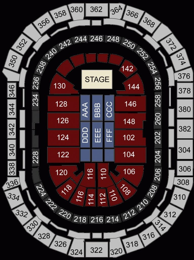 Pepsi Center Seating Chart Hockey