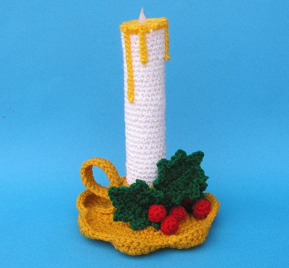 PDF Crochet Pattern HOLIDAY CANDLE by bvoe668 on Etsy, $5.00