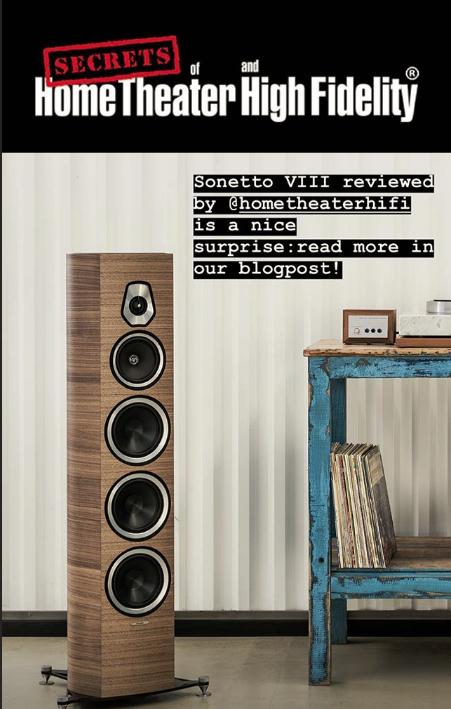 Sonetto Viii Acoustic Speakers For Ht Hi Fi