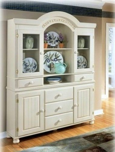 Dining Room Hutch And Buffet From Auction  Redone Rustic White Gorgeous Dining Room Buffet Hutch 2018